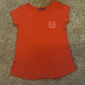 A red t-shirt